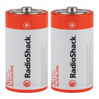 C Alkaline Batteries - 2-Pack