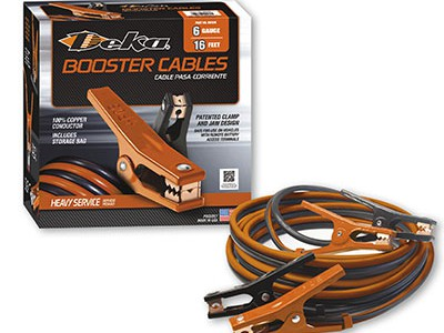 CABLE, BOOSTER  6 GA 16' 500G CU BLK/ORG BOX