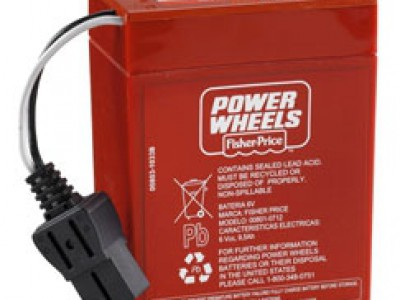 6 Volt Red Battery