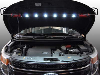 ATEC UNDERHOOD LIGHT, 6 X 1W LED, CORDLESS DC POWERED