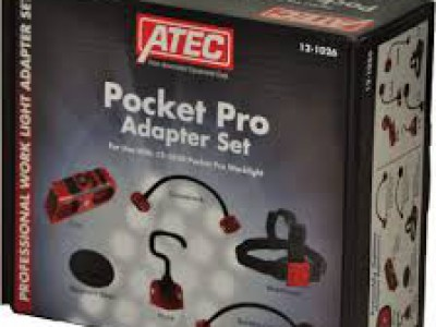 ATEC ACCESSORY KIT, ADAPTER SET FOR POCKET PRO WORKLIGHT