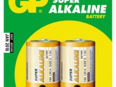 GP C Super alkaline battery, 2pk carded