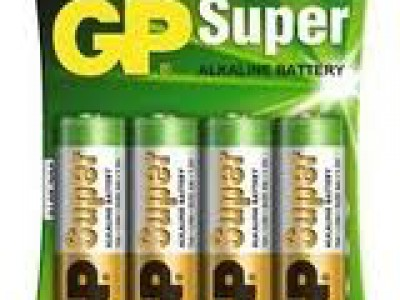 GP AA Super alkaline battery, 4pk carded