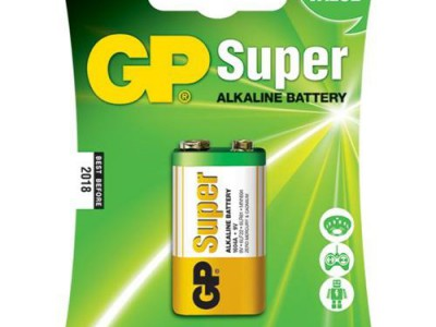 GP 9V Super alkaline battery, 1pk carded