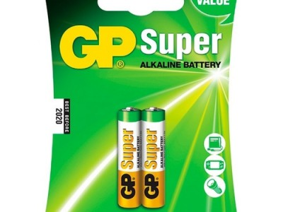 GP AAA Super alkaline battery, 2pk carded
