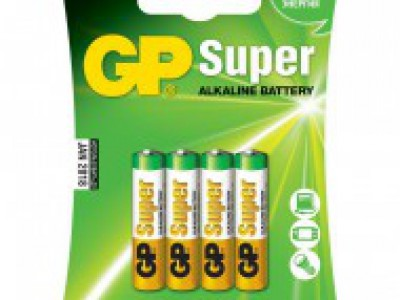 GP AAA Super alkaline battery, 4pk carded