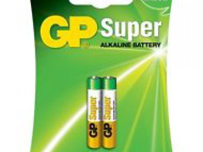 GP AAAA Super Alkaline, 2pk carded