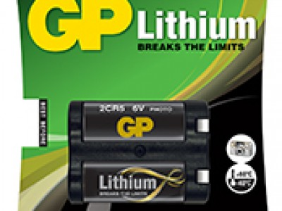 GP 6V Lithium 2CR5, 1pk carded