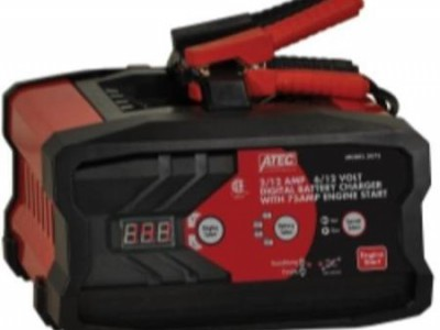 ATEC BATTERY CHARGER, 6/12V 12/2A AUTOMATIC, 75A START