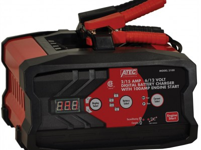 ATEC BATTERY CHARGER, 6/12V 15/2A AUTOMATIC, 100A START