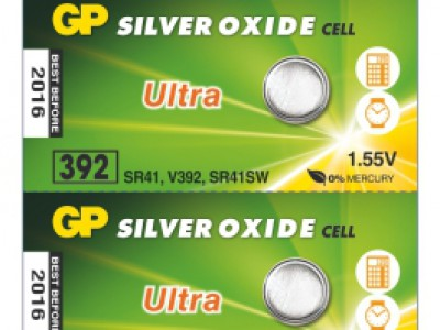 GP 392 Ultra Silver Oxide Button Cell, 5pc tear strip (TS)
