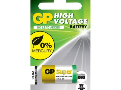 GP 476A (4LR44) 6V Mercury Free Mini-Alkaline, 1pk carded