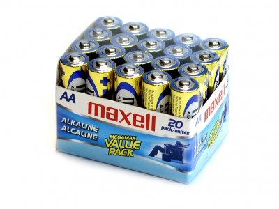 AA Maxell Alkaline Battery 20 cells/brick