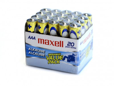 AAA Maxell Alkaline Battery 20 cells/brick