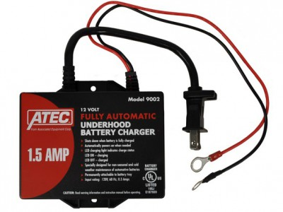 ATEC CHARGER/MAINTAINER, 12V 1.5A AUTOMATIC