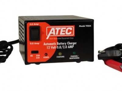 ATEC CHARGER/MAINTAINER, 12V .8-2A AUTOMATIC, FLOODED OR GEL