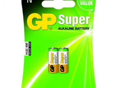 GP Super Alkaline 1.5V N-Cell, 2pk carded
