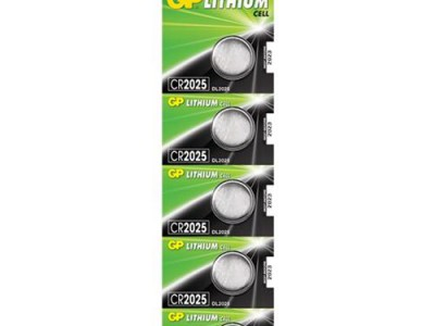 GP 2025 3V Lithium Coin Cell (160 mAh), 5pc tear strip (TS)