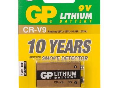 GP 9V lithium battery 800mAh, 1pk carded