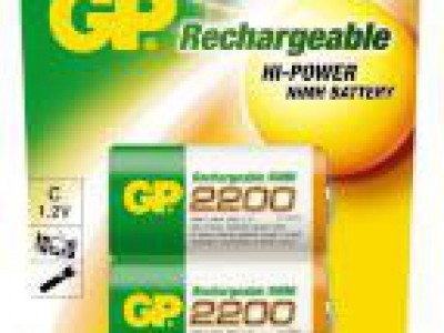 GP C Rechargeable 2200mAh NiMh battery 2pk