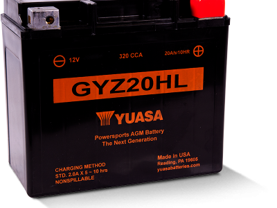Yuasa YUA-GYZ20HL  Factory Activated - Maintenance Free AGM