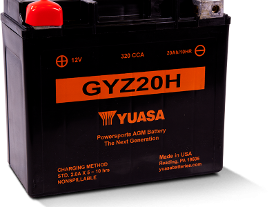 Yuasa YUA-GYZ20H      Factory Activated - Maintenance Free AGM