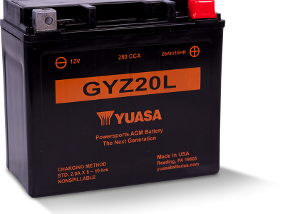 Yuasa YUA-GYZ20L        Factory Activated - Maintenance Free AGM