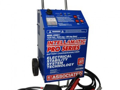 CHARGER/ANALYZER 12/24V 70/35AMP 200AMP BOOST,INTELLAMATIC W/NATO PLUG & QUICK DISCONNET, WHEELS (ESS)