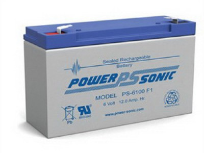 Powersonic PS-6100 6 Volt  12AH F1