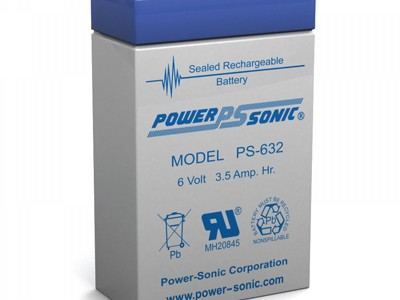 Powersonic PS-632 6 Volt  3.5AH
