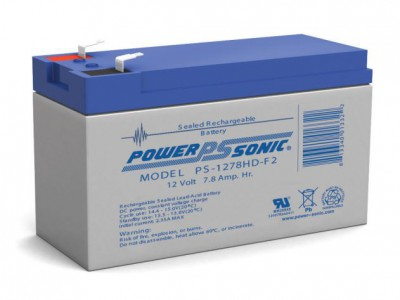 Powersonic PS-1278HD 12 Volt  7.8AH F2