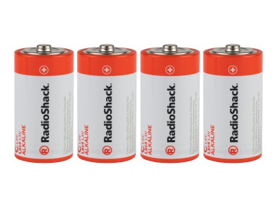 C Alkaline Batteries - 4-Pack
