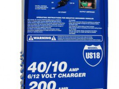 CHARGER, 6/12V 40/40/10A, 200 AMP CRANKING ASSIST, WHEELS