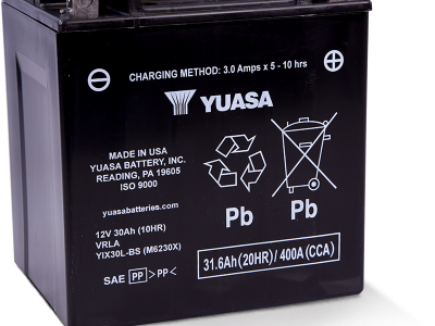 Yuasa YUA-YIX30L-BS    High Performance - Maintenance Free AGM