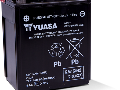 Yuasa YUA-YTX14AH-BS High Performance - Maintenance Free AGM