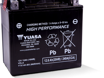 Yuasa YUA-YTX14H-BS High Performance - Maintenance Free AGM