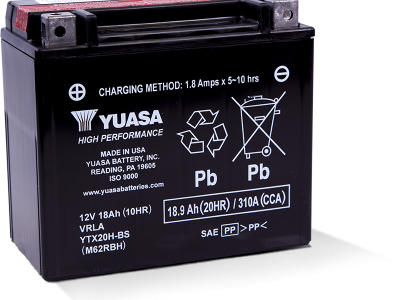 Yuasa YUA-YTX20H-BS High Performance - Maintenance Free AGM