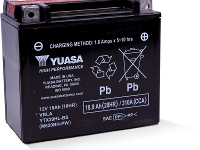 Yuasa YUA-YTX20HL-BS-PW High Performance - Maintenance Free AGM