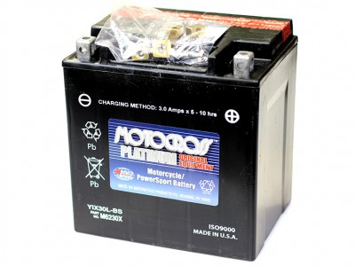 YU-YIX30L-BS Powersport Battery