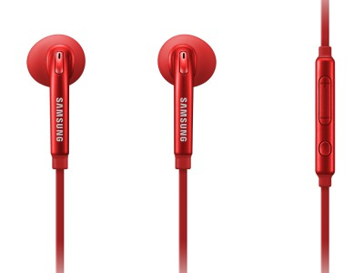 Ear Bud/Headset Samsung Samsung Active In Headset RED